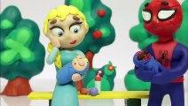 Princesa Elsa duerme con los bebés  Dibujos Animados Cartoons Play Doh Stop Motion