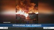 Lima Toko Sembako di Cilegon Ludes Dilalap Api