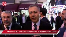 Vali Yerlikaya'dan Suriyeli açıklaması