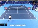 Anvers - Murray remporte le point du match contre Cuevas