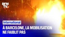 Barcelone: la mobilisation des indépendantistes catalans ne faiblit pas