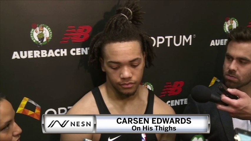 Celtics' Carsen Edwards Not Excited To Talk About His Thighs
