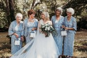 This Tennessee Bride's 4 Grandmothers Served as Her Flower Girls