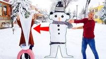 Snowman Slime For Christmas!! Kardan Adam SLİME Yaptık, HowTO Make SNOWMAN SLİME Ayşe Yıldız in