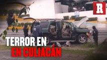 """Fuerte balacera en Culiacán tras la detención del hijo de """"El Chapo"""" Guzmán."""