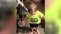 2 yaşındaki çocuk, annesinin kendisini öpmeden işe gitmesine isyan etti