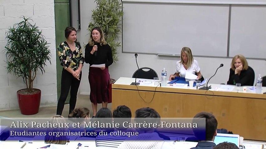 """""""PMA - GPA : le droit face aux évolutions sociétales en Europe"""", présentation du colloque par Mélanie Carrère-Fontana, étudiante co-organisatrice_01-GPA-PMA Mélanie"""
