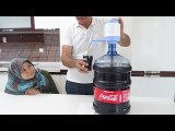 Coca Colaya DAMACANA Pompası Yaptık TAM BİR Hafta COLA İçtik HOWTO MAKE COCA COLA DISPENSER MACHINE