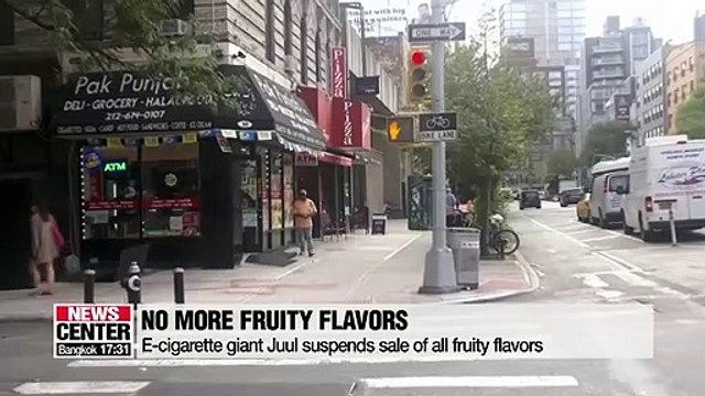 E-cigarette giant Juul suspends sale of all fruity flavors