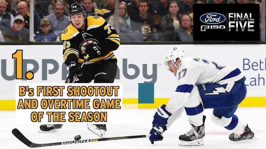 Ford Final Five Facts: Bruins Drop First OT Game Of Season To Lightning