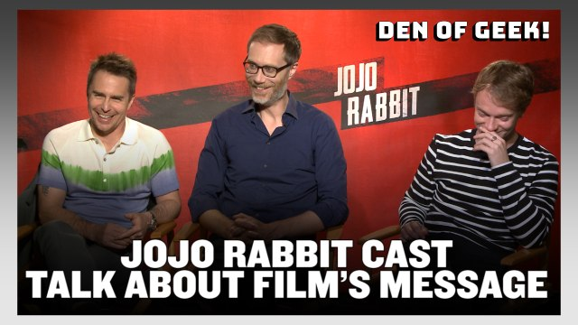 Jojo Rabbit - Stephen Merchant, Sam Rockwell, Alfie Allen Interview