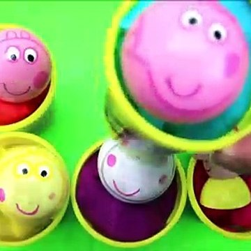 Peppa Pig Toys Wooden Balls Play Doh Surprise Cups Finger Family Song Teach Kids Colors Toys For Kids
