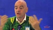 Football   Conférence de presse du Président de la FIFA Gianni Infantino sur le racisme