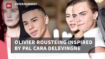 Olivier Rousteing Works On Cara Delevingne Collection