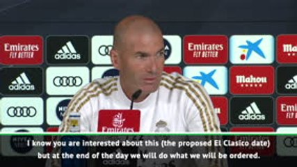 Zidane won't let El Clasico uncertainty cloud performance