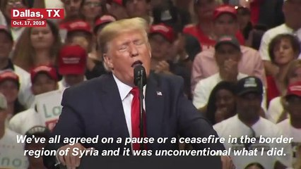 Trump Compares Turkish Invasion Of Syria To Fight Between 'Two Kids in a Lot'