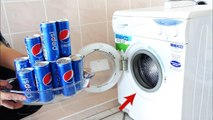 PEPSİ COCA COLA  Vs Washing Machine+SLİME