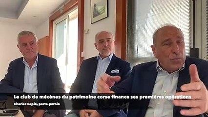 Le club des mécènes du patrimoine corse finance ses premières opérations