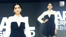 Sonam Kapoor Rock The Monochrome Look At The Karl Lagerfeld Launch