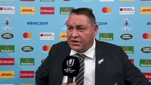 Steve Hansen speaks after New Zealand reach the Rugby World Cup semi-finals