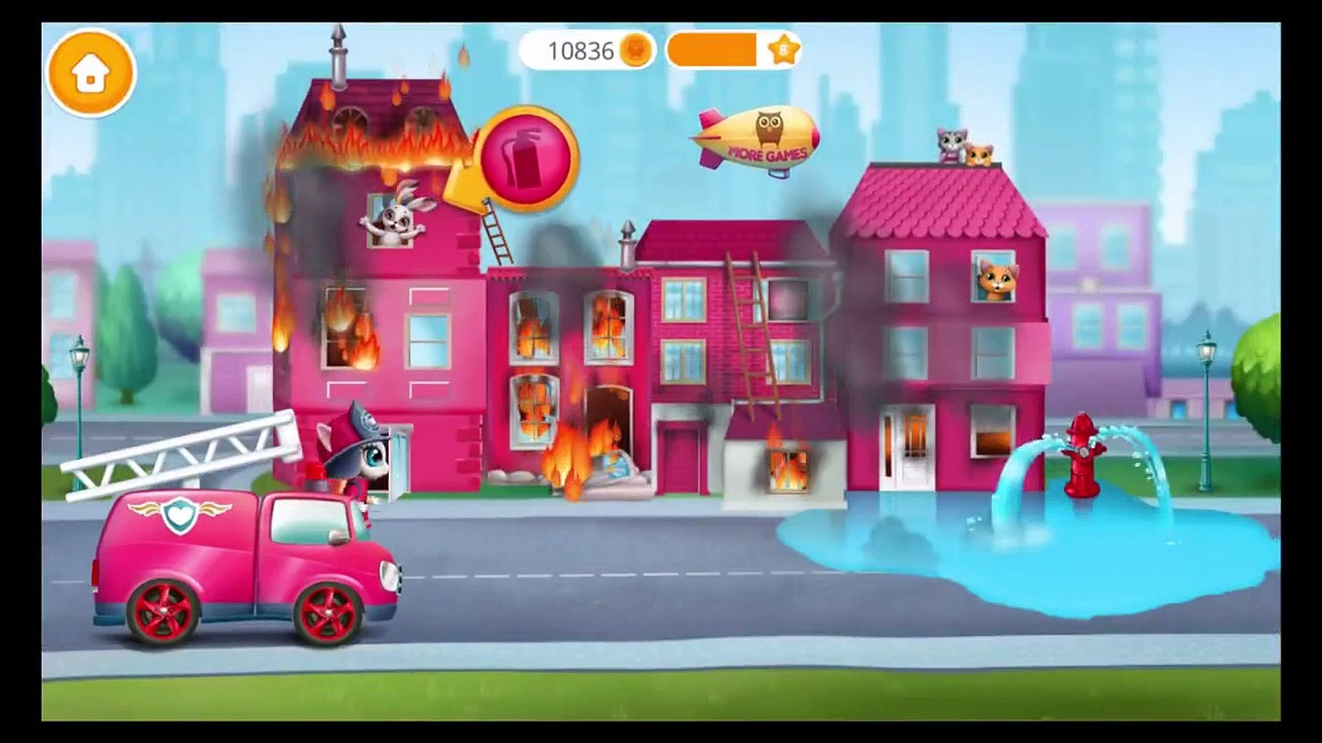 Play Fun Pet Kitten Superheros Rescue Team  Kitty Meow Meow City Heroes  Fun Pet Kids Games