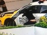 Bandido furta celular de dentro de viatura da PM em Curitiba