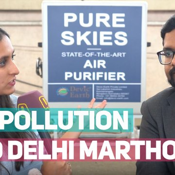 Can This Device Clean Delhi's Air Pollution Before the Marathon?