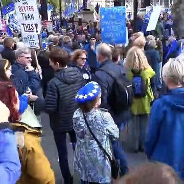 "People's Vote marchers sing ""Jerusalem"" in Parliament Square"