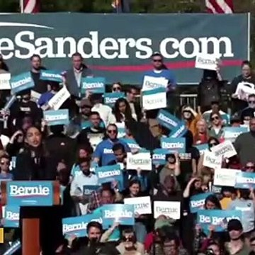 Ocasio-Cortez Speaks At Bernie Sanders Rally