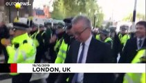 'Shame on you' - pro-EU protesters shout at British ministers leaving parliament