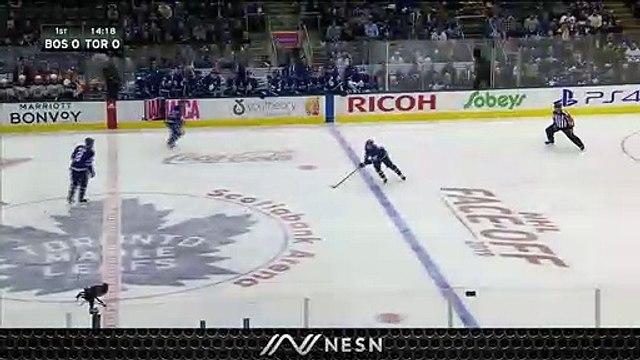 Maple Leafs Score Bizarre Goal To Take Early Lead Vs. Bruins Saturday