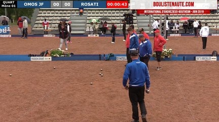 International  à pétanque d'Andrézieux-Bouthéon 2019 : Quart ROSATI vs OLMOS