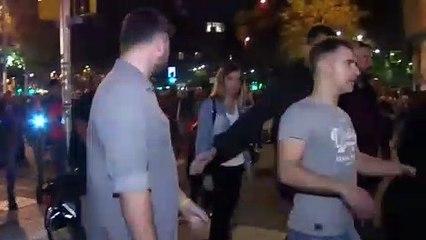 Insultos, gritos y abucheos a Rufián en la manifestación de CDR de Barcelona
