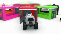 Learn Colors With Street Vehicles Parking And Coloring  Educational Videos