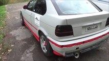 Bontoux Ludovic BMW E 36 COMPACT  318  - en peinture -N 1  -vive la glisse jurassienne -vidéo lulu du jura