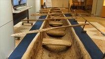 قارب خشبي يحاكي رحلة يابانيين قدامى لتايوان