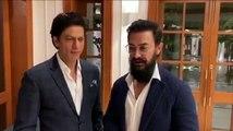 """देखिए प्रधानमंत्री मोदी के निवास पर """"गांधी-150"""" सत्र के बाद शाहरुख़ आमिर ने क्या कहा"""