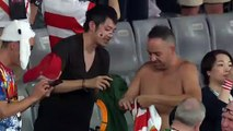 Fans swap shirts in stands