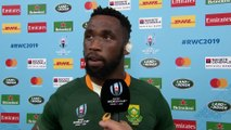 Siya Kolisi reacts to South Africa's Quarter Final win