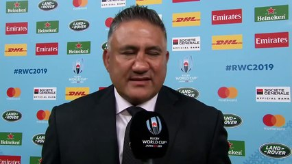 Jamie Joseph discusses Japan's loss to South Africa