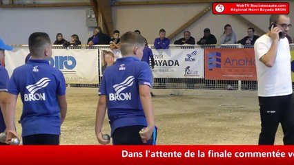 Pétanque Régional Henri Bayada 2019 à Bron : Finale HIDALGO vs VANG