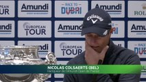 Amundi Open de France : la conférence de presse de Nicolas Colsaerts