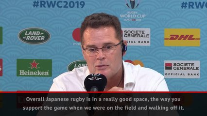 South Africa coach leads round of applause for hosts Japan