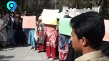 Baloch students protesting against the harrasment of female students of Balochistan university
