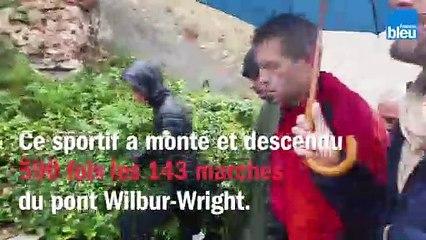 Fabrice  Didier grimpe l'équivalent de l'Everest en restant au Mans
