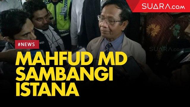 Jelang Pengumuman Menteri, Mahfud MD Sambangi Istana