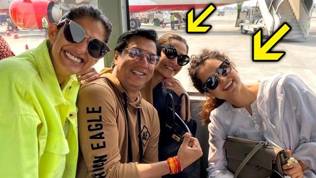 Enemies Kangana Ranaut Poses With Sonam Kapoor At Airport, Turn Friends?