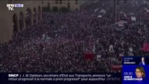 """Une marée humaine dans les rues de Beyrouth au Liban pour réclamer le départ d'une """"classe politique incompétente et corrompue"""""""