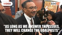 Hishammuddin: They are insecure, they keep changing the goalposts
