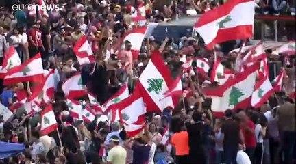 """""""الأحد العظيم"""": مئات آلاف اللبنانيين يطالبون برحيل """"النظام الفاسد"""""""